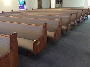 Pew Upholstery at Warner Temple AMEZ